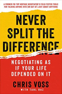 Third on our list of good books for teens is Never Split the Difference by Chris Voss.