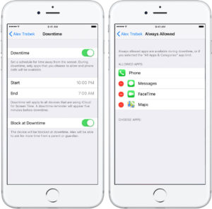 Downtime is one of the most popular iOS parental controls, allowing you to set hours during which your teen will be unable to use their phone at all, except for a few apps you allow.